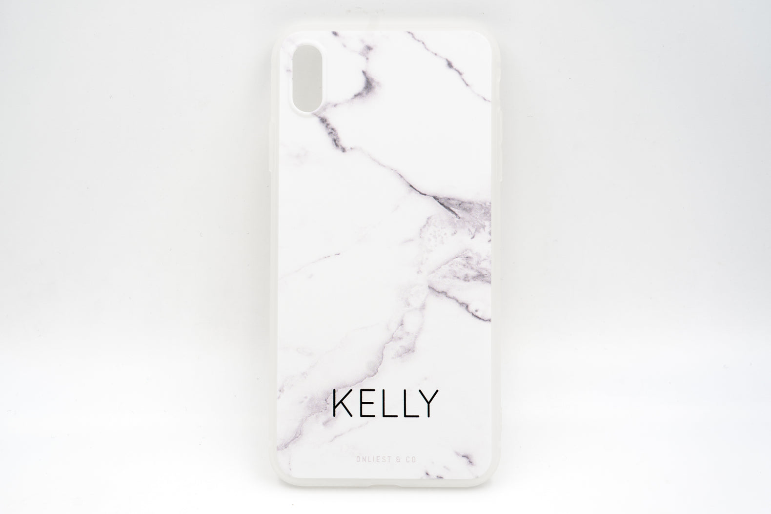 White Marble Case (Smooth Matte Finish) - iPhone XS Max / XR