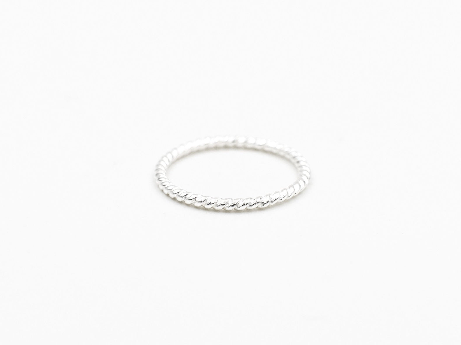 Stacking Ring (Patterned Silver)