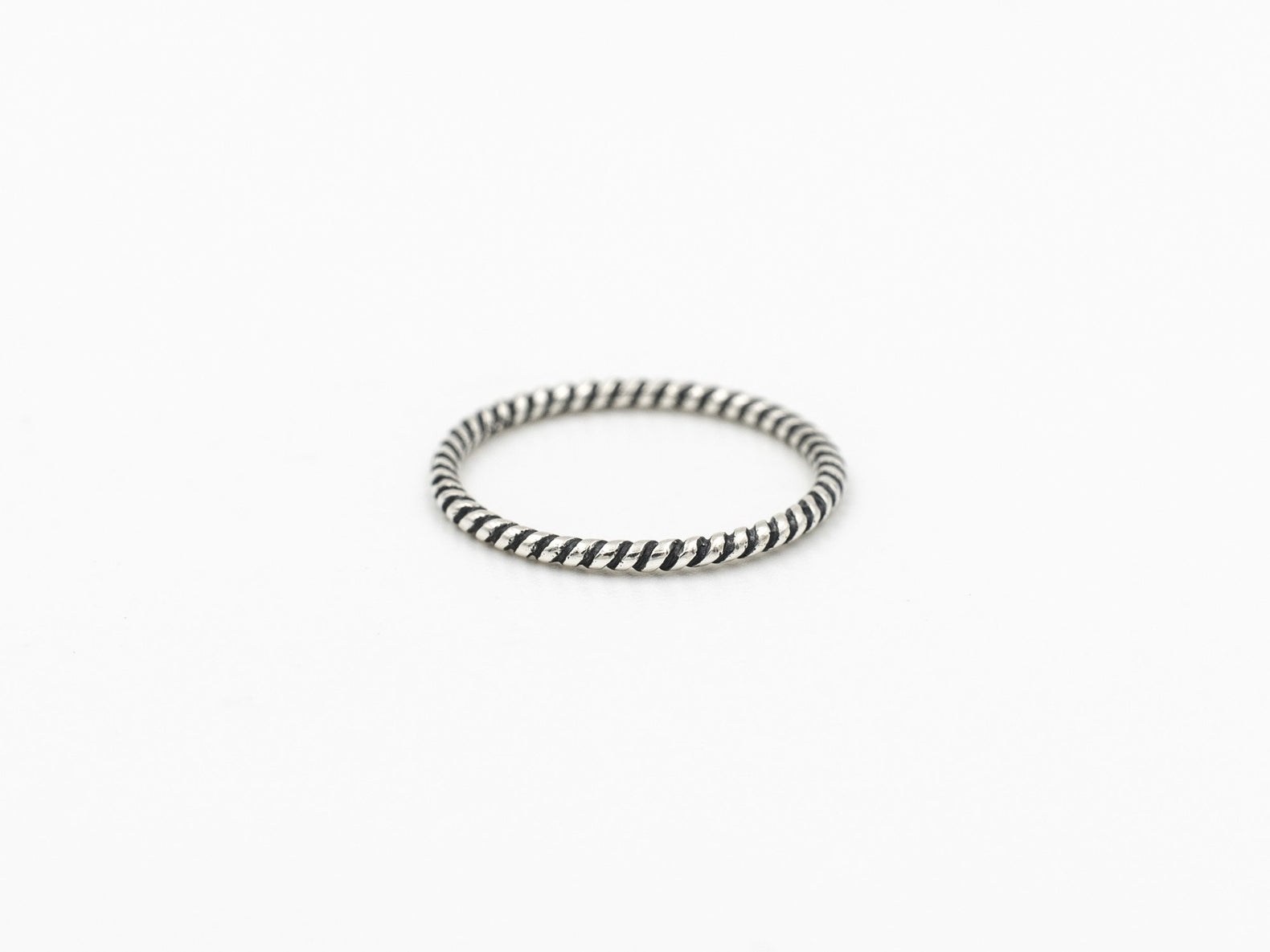 Stacking Ring (Patterned Black)