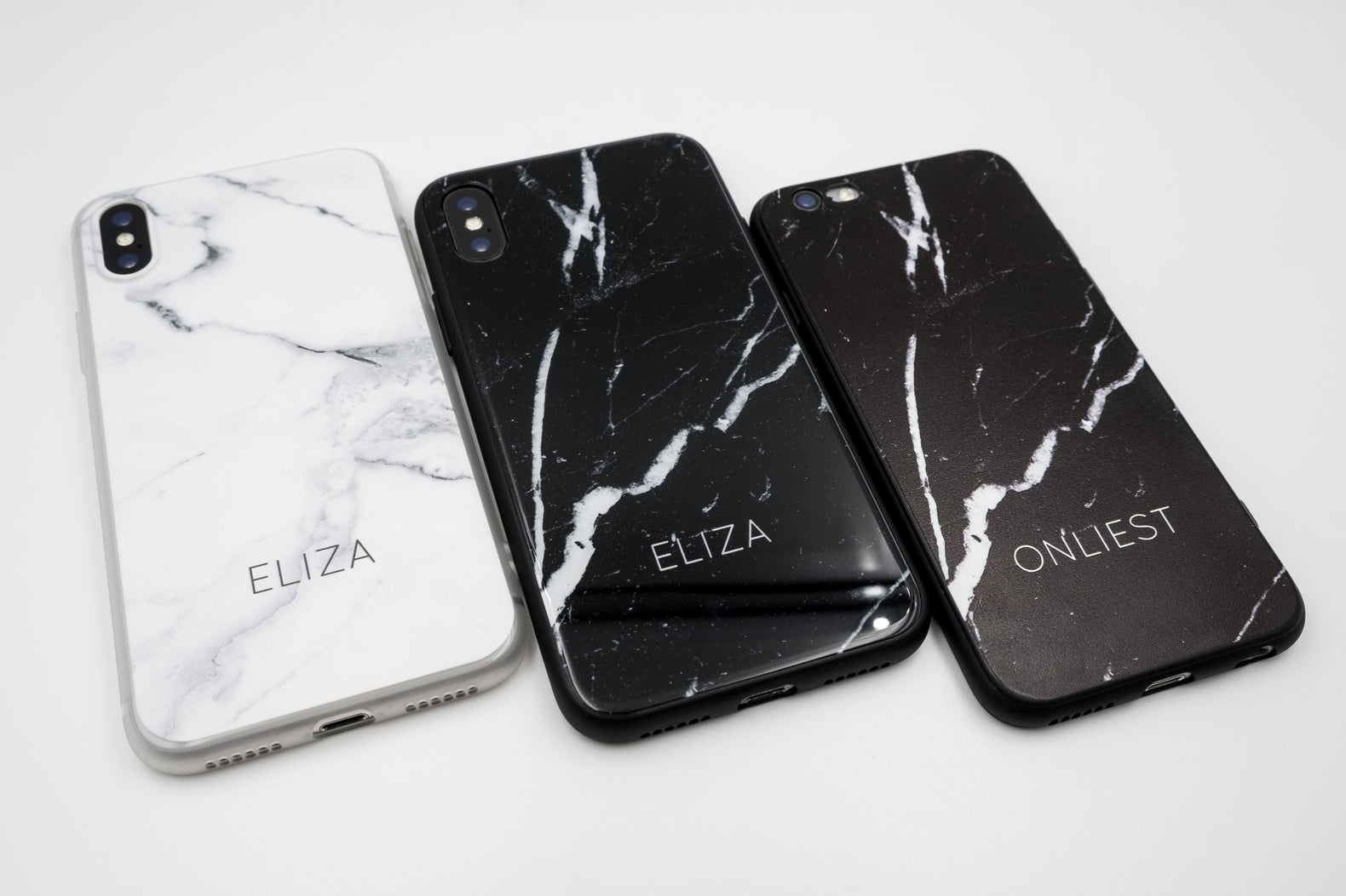 Black Marble Soft Case (Smooth Matte Finish) - iPhone