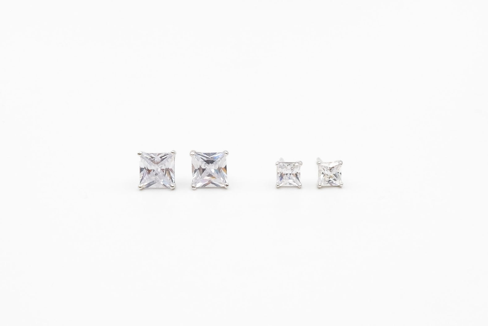 Square Diamond Earring Set (2 pairs)