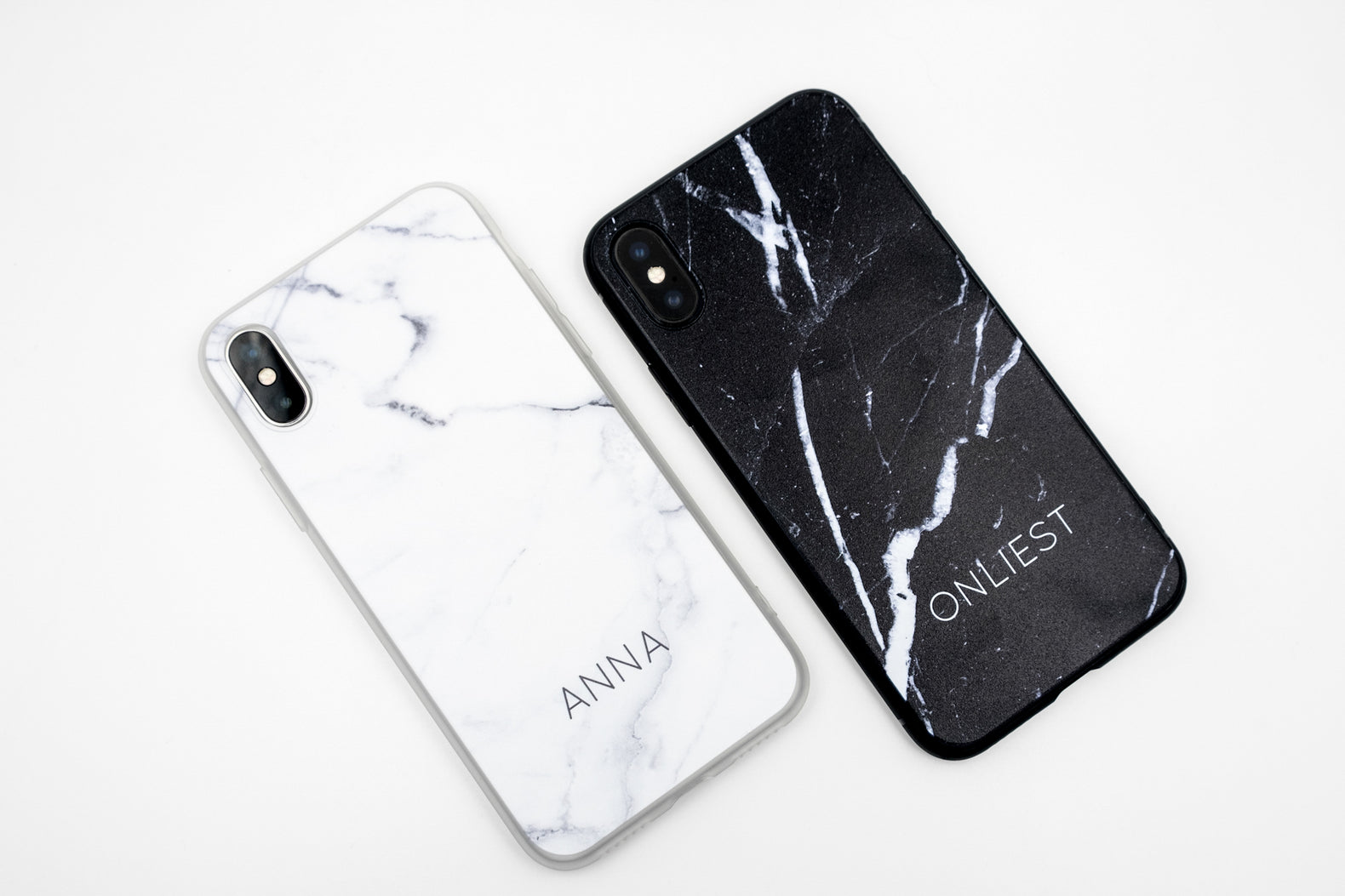 Black Marble Case (Matte Plastic) - iPhone