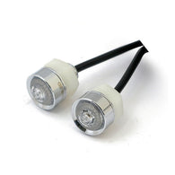 MONO LED TURN SIGNALS CHROME, CLEAR LENS