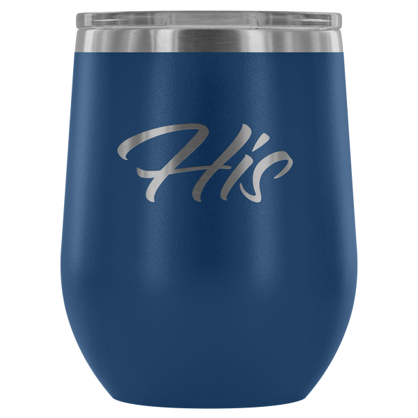 Vacuum Insulated Stemless Wine Tumblers - His - Simone's Nook