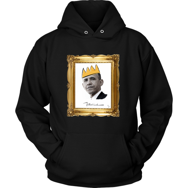 Barack Obama with Crown Unisex Hoodie - Black Excellence Series - Simone's Nook