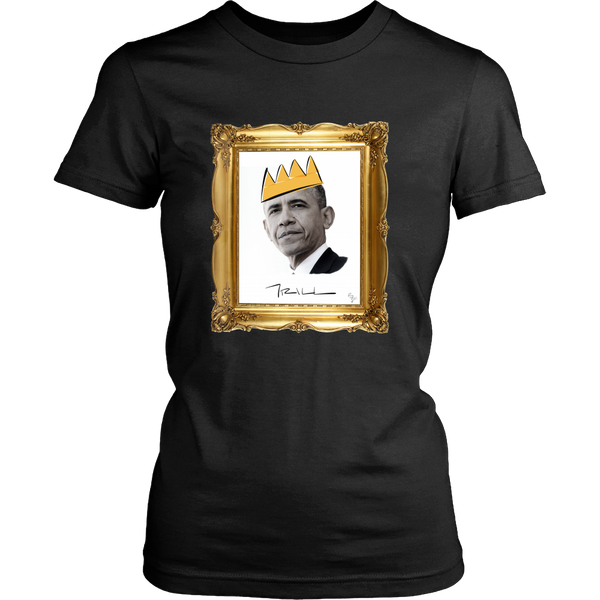 Barack Obama with Crown Womens T-Shirt - Black Excellence Series - Simone's Nook