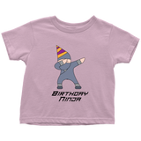 Dabbing Birthday Ninja Toddler T-Shirt - Simone's Nook