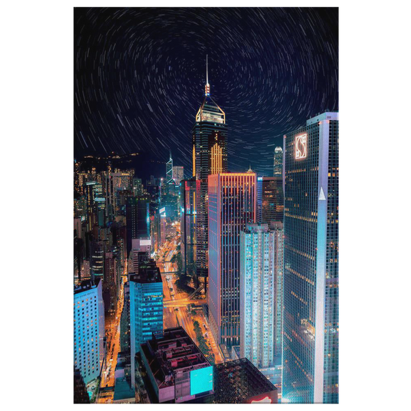 Hong Kong Cityscape Skyline Canvas Wall Art Print - Simone's Nook