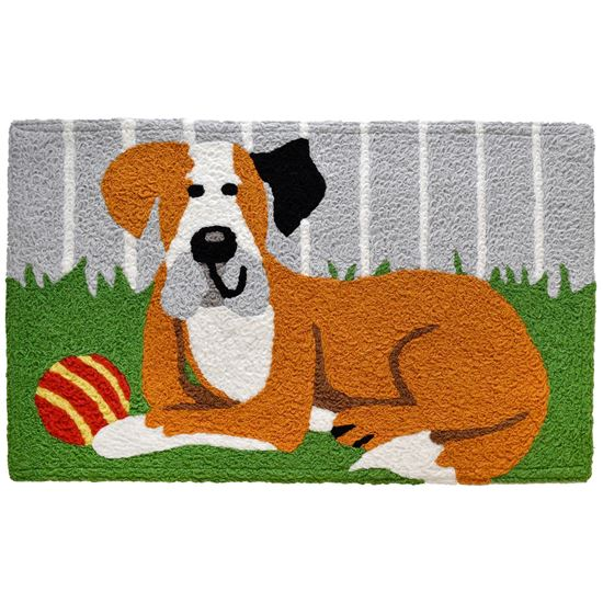 "Jellybean Accent Rug,  Happy Hound, 21"" x 33"""