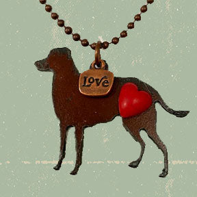 Necklace, Rusted Metal, Labrador