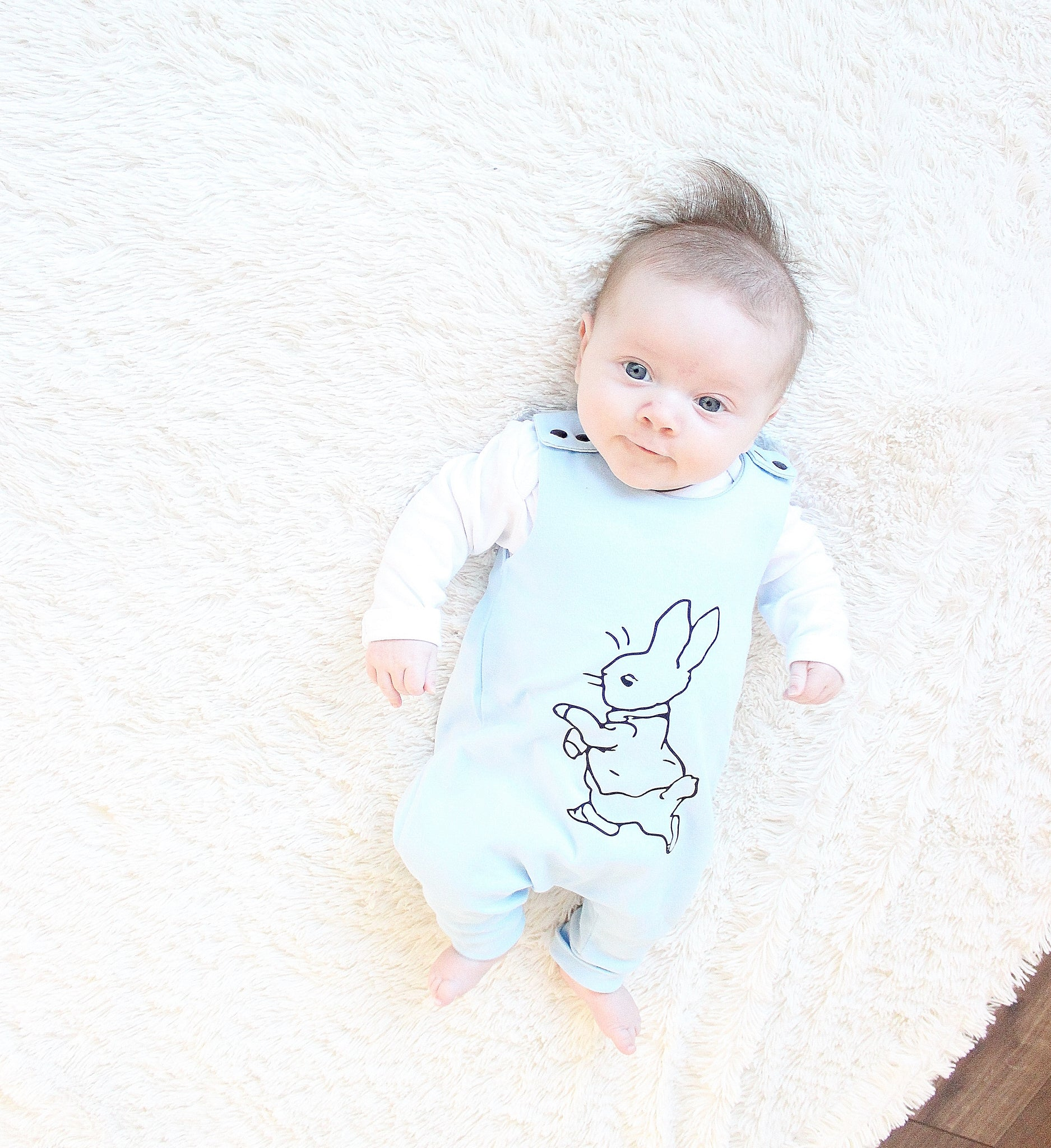 Baby Blue Peter Rabbit Long legged romper
