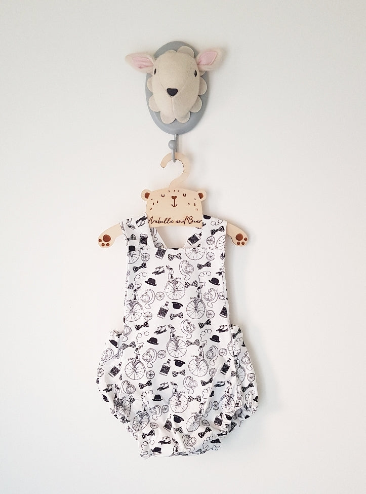 Whimsical Walter bubble romper