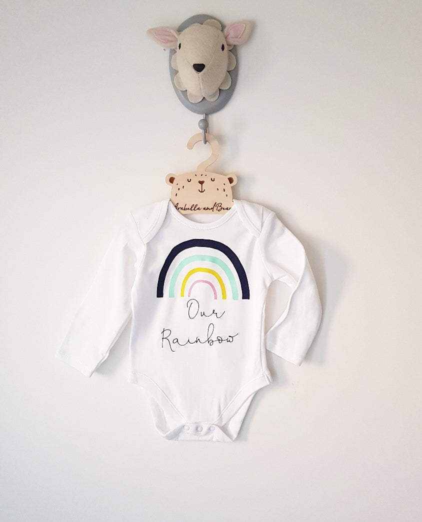 Our Rainbow - Rainbow Baby bodysuit long or short sleeved