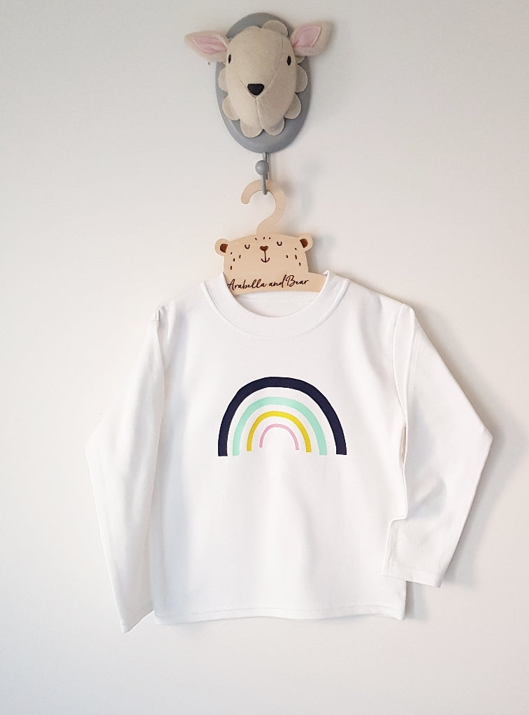 Rainbow top - long - short sleeved