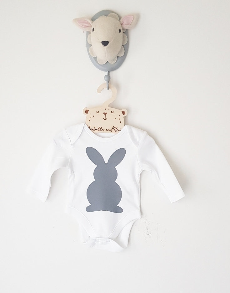 Bun bun tail  bodysuit , long or short sleeved