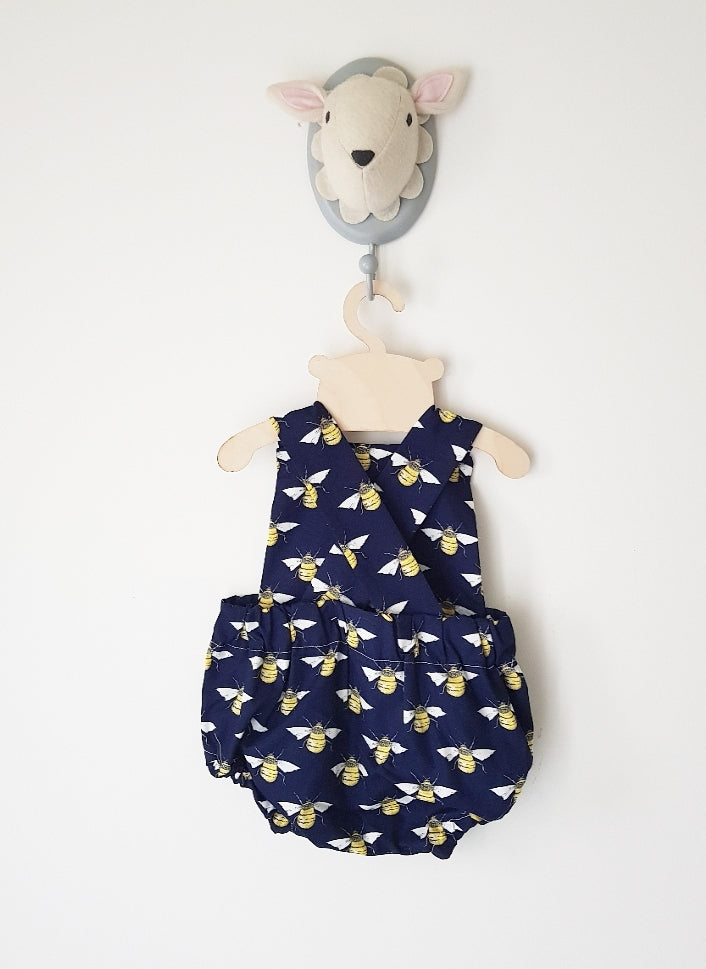 Sweet as honey Navy bubble romper