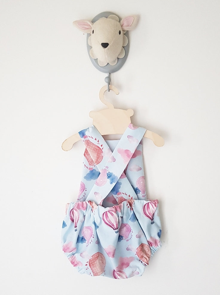 Up in the clouds bubble romper