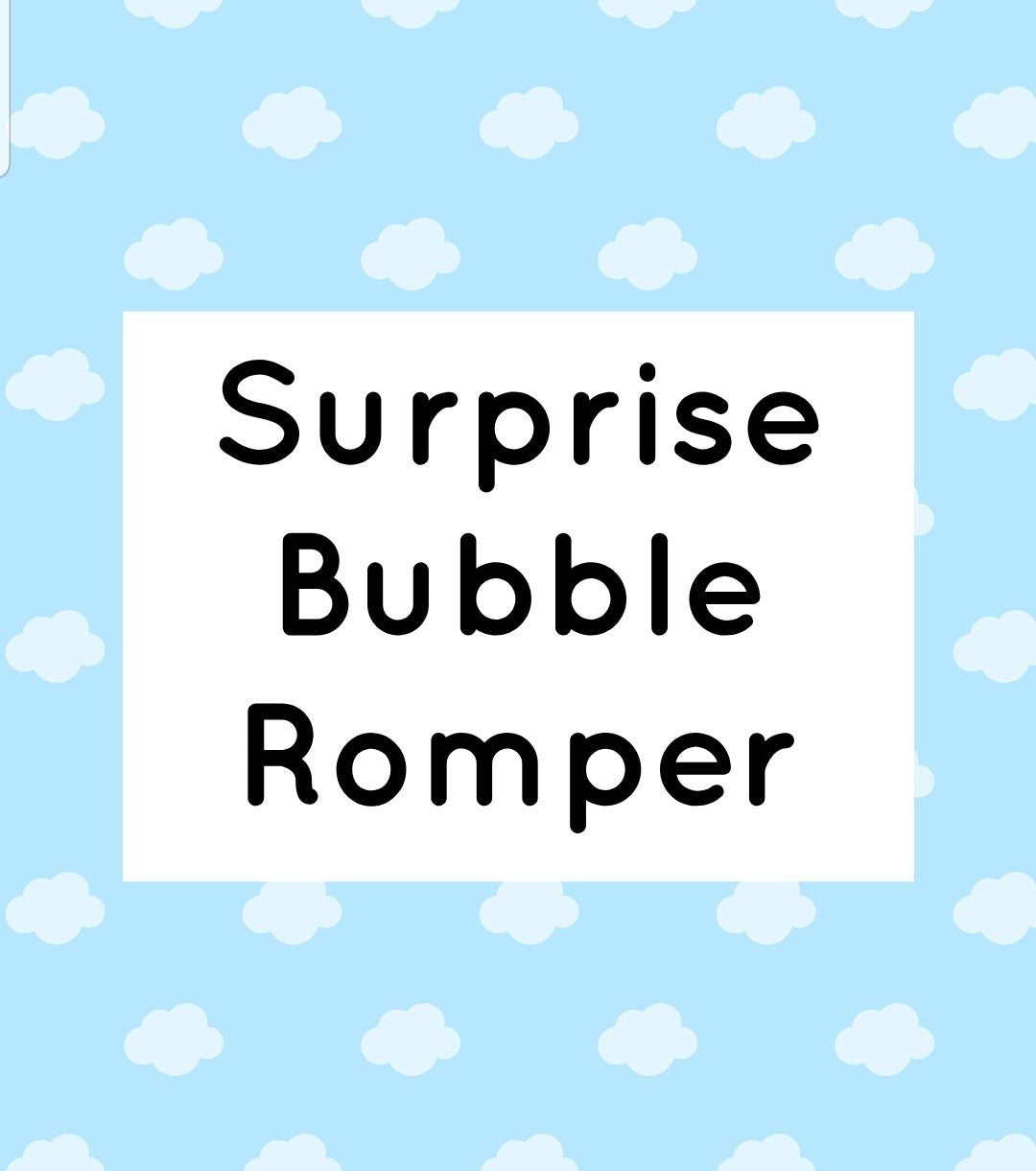 Surprise bubble romper - boy or girl -