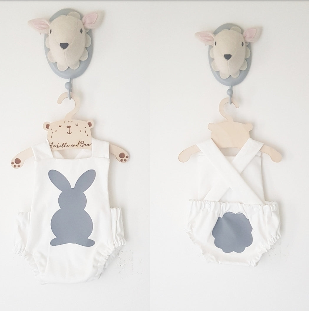 Bunny tail bubble romper