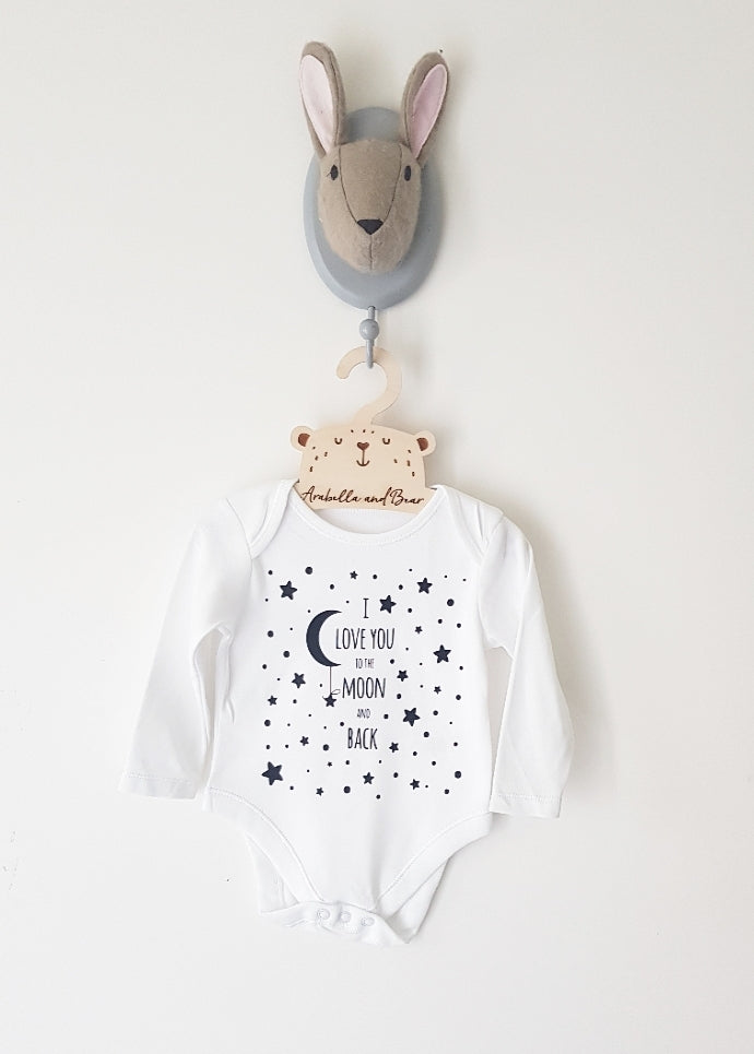 I love you to the Moon and back bodysuit long or short sleeved