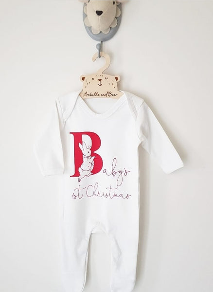 Baby's 1st Christmas - Unisex - Peter Rabbit - all in one - loungewear