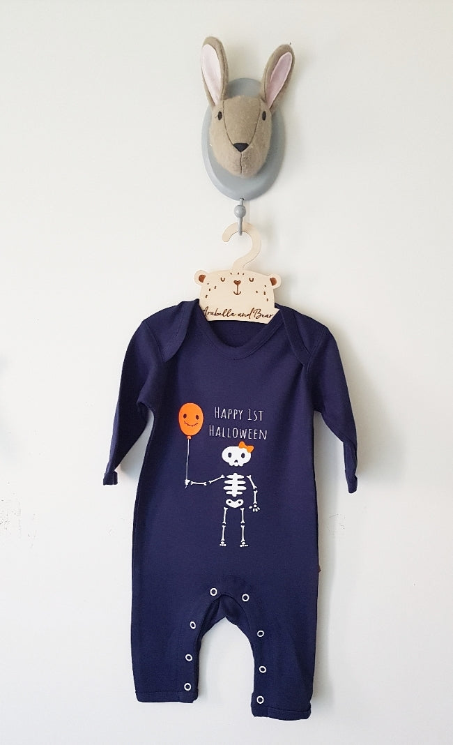 Happy 1st Halloween - Navy Blue  - all in one -