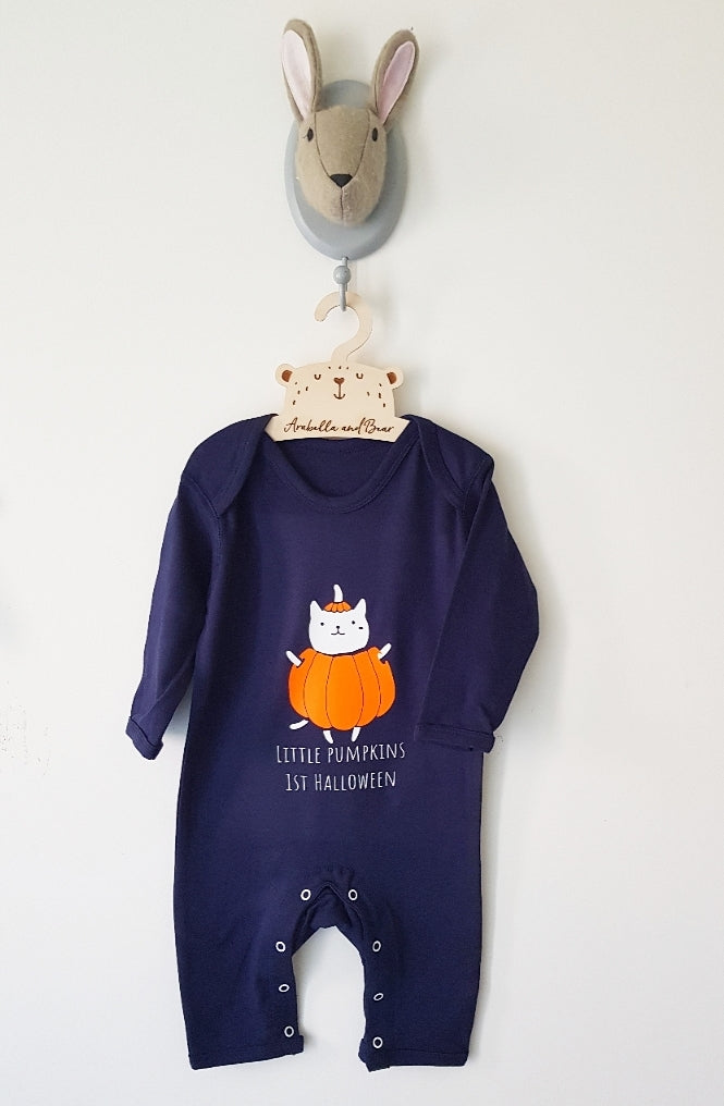 Little Pumpkins 1st Halloween - Navy Blue  - all in one -