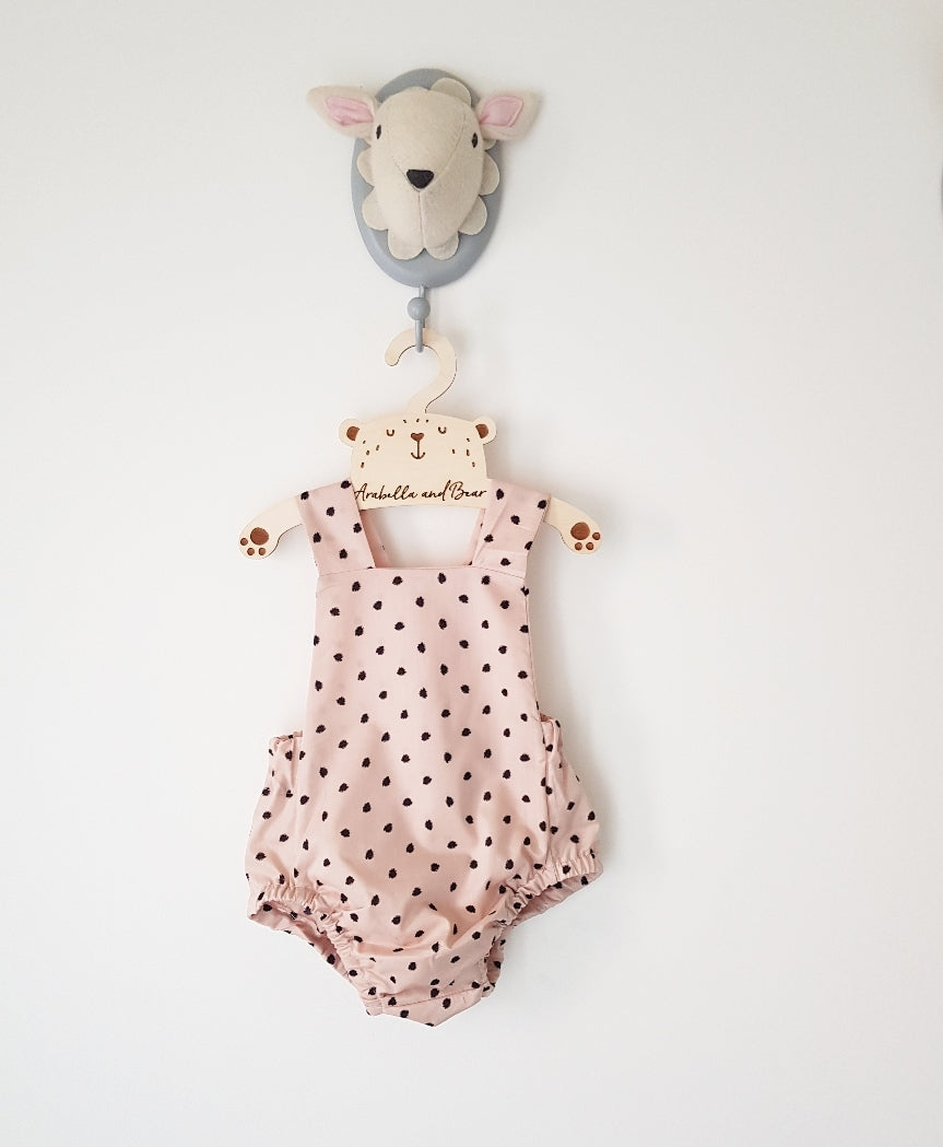 Peachy Pie Summer cross over bubble romper