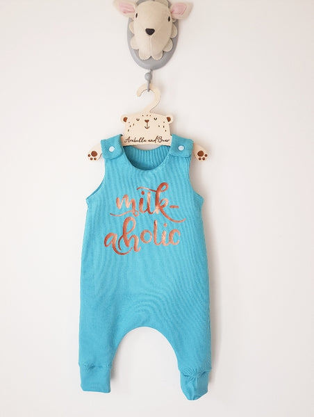 Milk-aholic long or short romper
