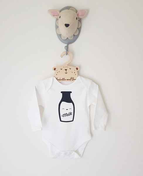 Happy Milk bodysuit , long or short sleeved