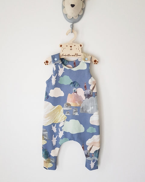 Roo Roo and pebbles  Romper long or short