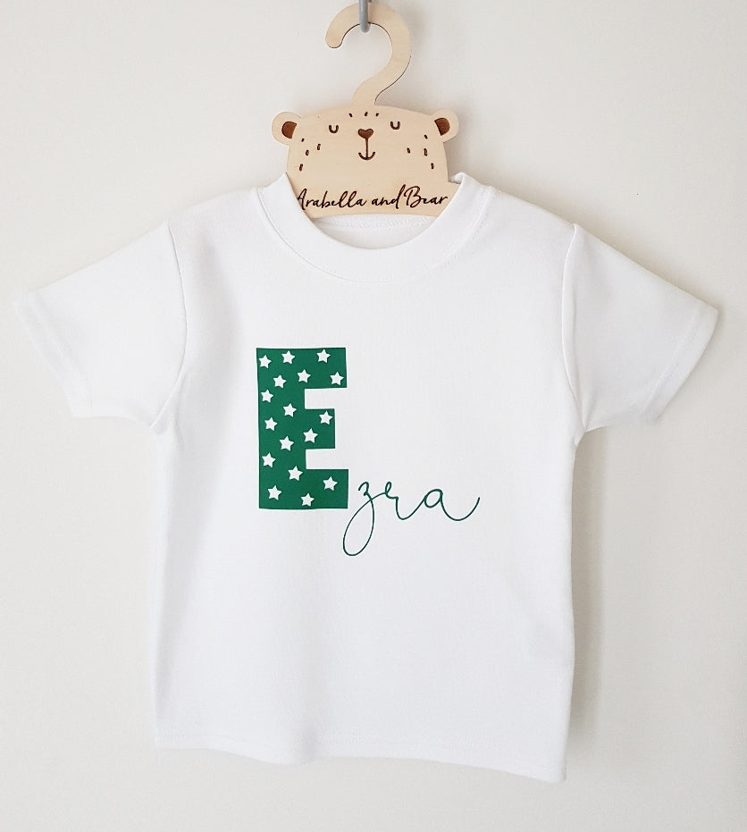 Custom star name Tee in various colours