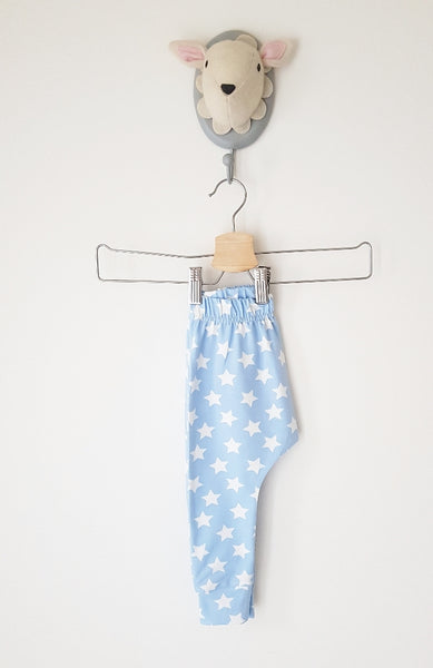 Baby blue stars slim fit harems