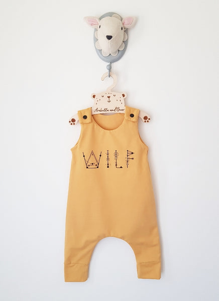 Mustard Customised Sacred Name romper