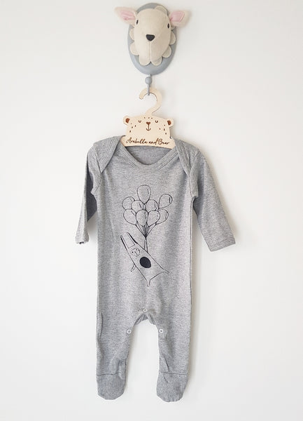 Fly away bunny all in one loungewear