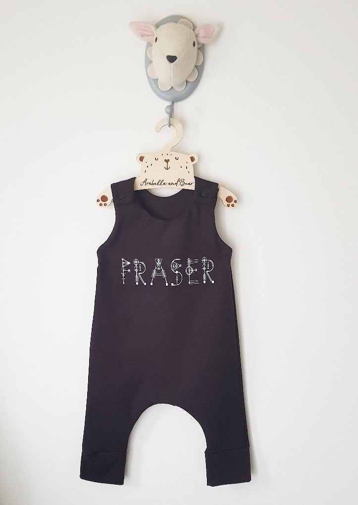 Mono Customised Sacred Name romper