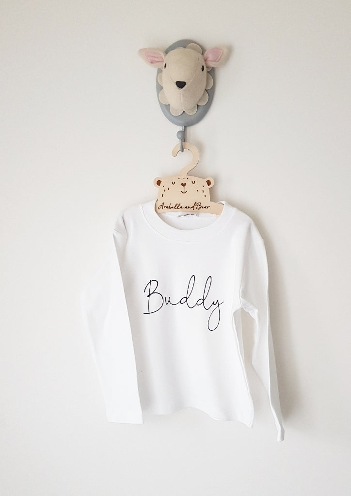 Long sleeved scribble name  personalised top
