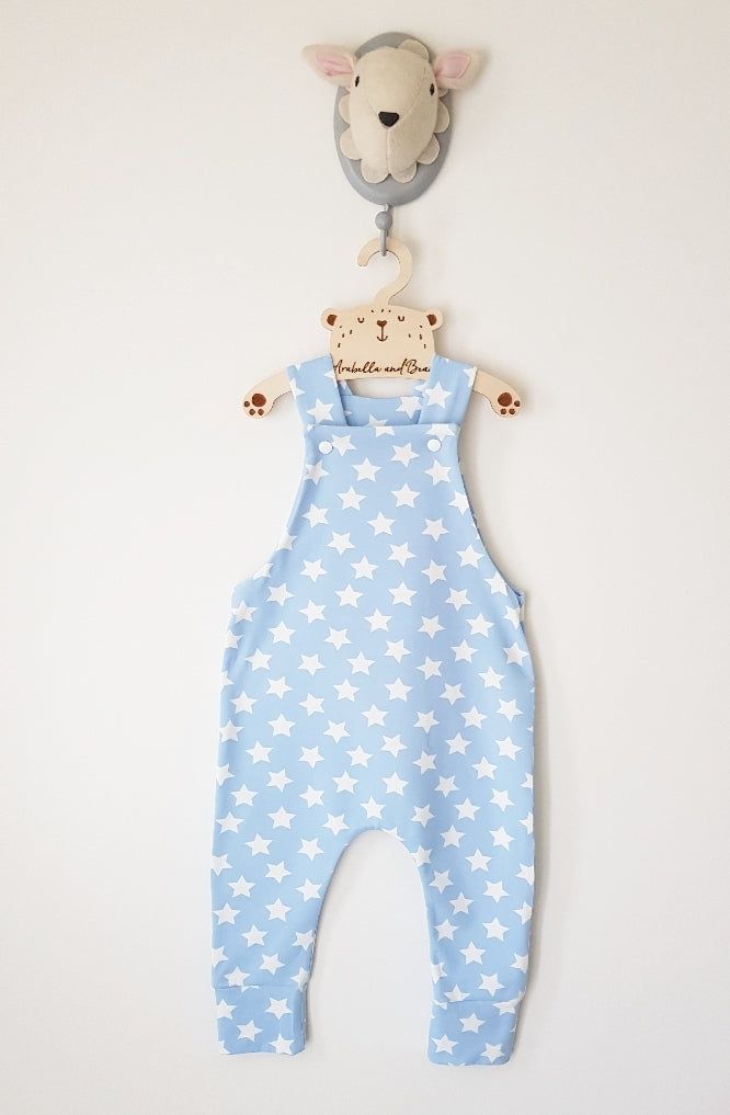 Baby blue stars dungarees