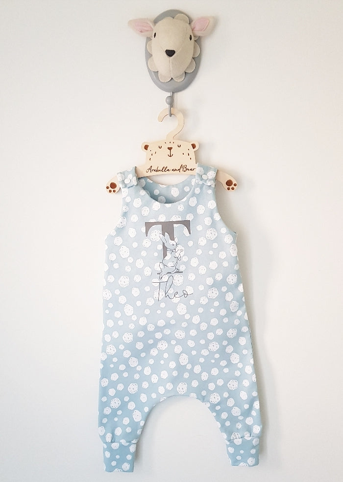 Personalised dotty about Peter Rabbit romper