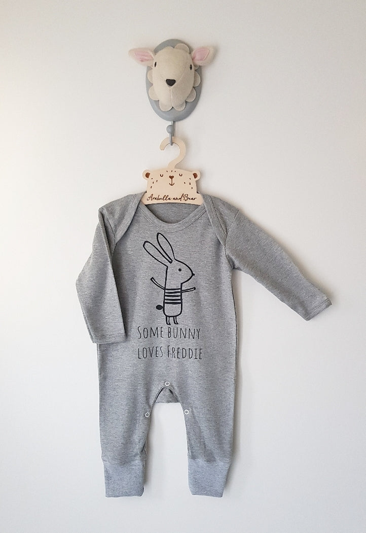 Custom - Some Bunny loves me - Grey - loungewear