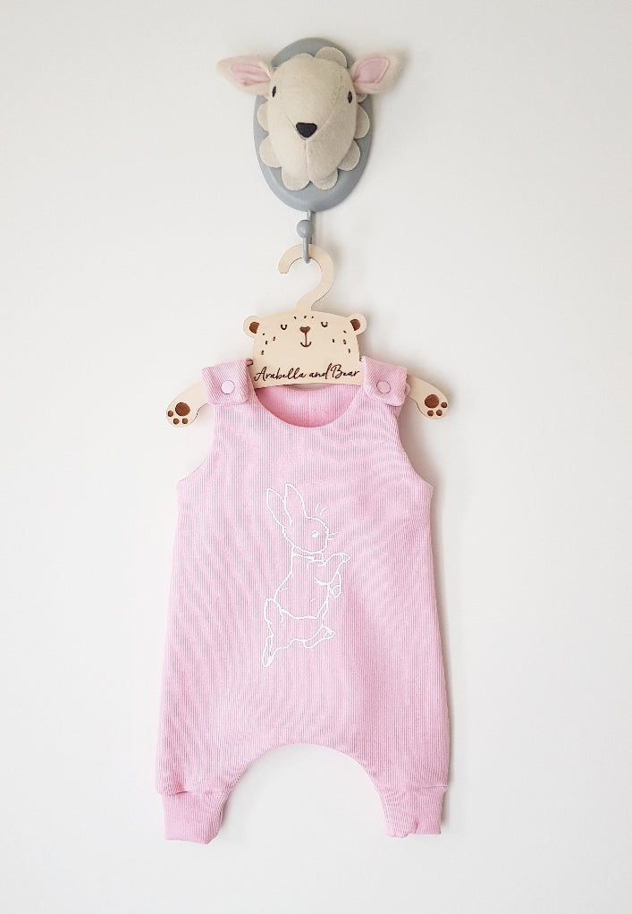 Baby pink Peter Rabbit romper