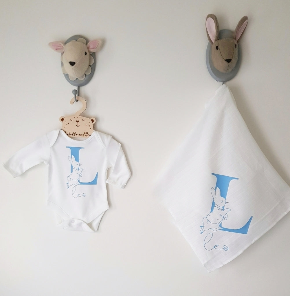 Peter Rabbit gift set- bodysuit - muslin -
