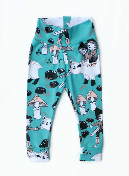 Organic Elfs and Bear woodland leggings