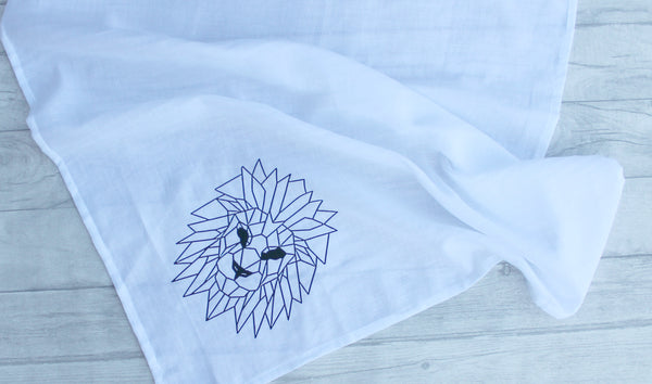 Geometric Lion cotton Muslin