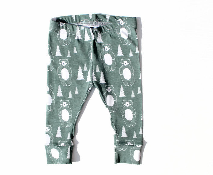Winter Bear organic leggings