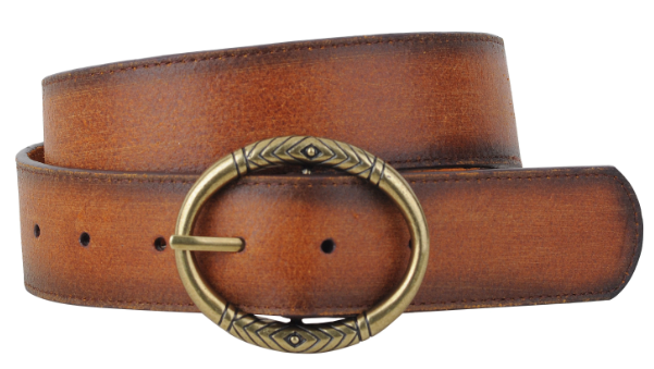 Geo Pattern on Circle Buckle Belt