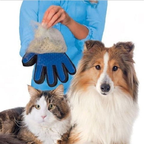 Deshedding Pet Blue Brush Glove