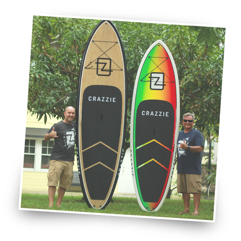 Crazzie Boards out on the water