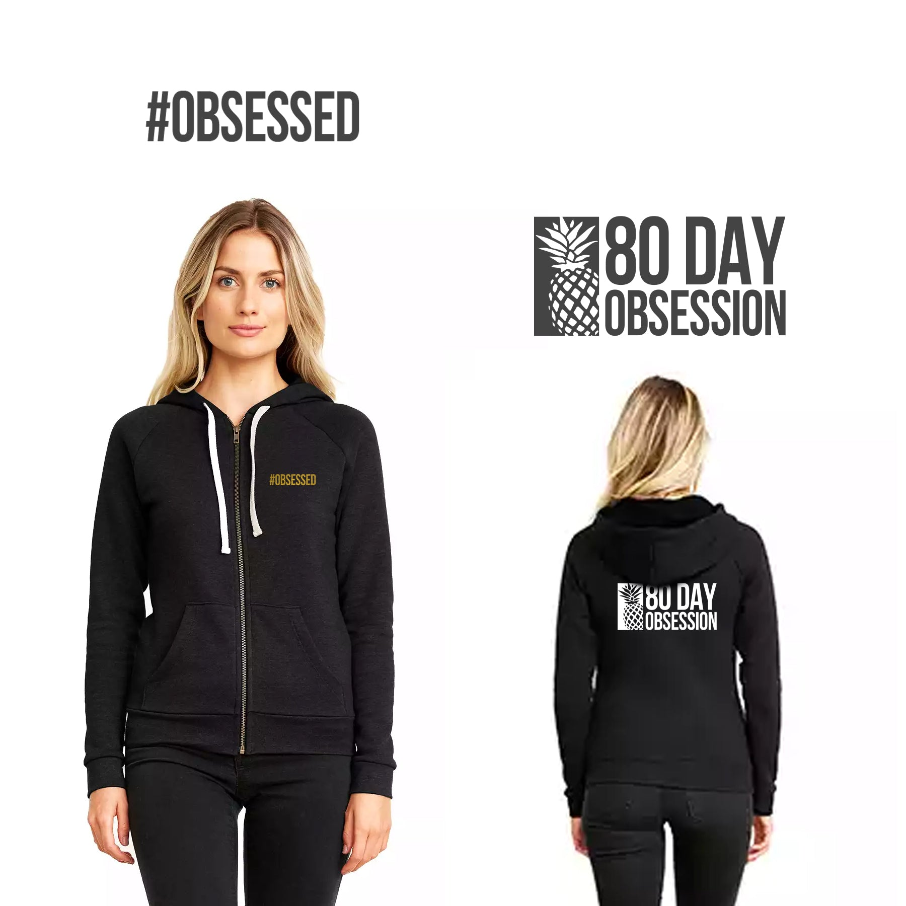 #OBSESSED Zip Hoody