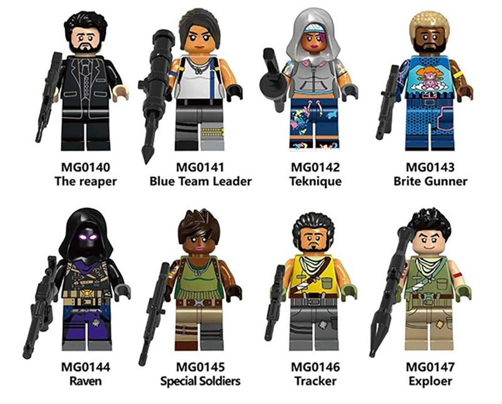8-Piece Fortnite Minifig Reaper Team Set - FREE Shipping